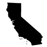 Map of the U.S. state California Stock Images