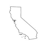 Map of the U.S. state California. Vector illustration Stock Photo