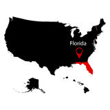 Map of the U.S. state of Florida Stock Photography