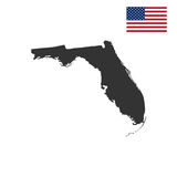 Map of the U.S. state of Florida Royalty Free Stock Images