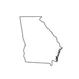 Map of the U.S. state Georgia Royalty Free Stock Photography