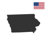 Map of the U.S. state of Iowa Royalty Free Stock Photo