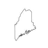 Map of the U.S. state Maine. Vector illustration Royalty Free Stock Photography