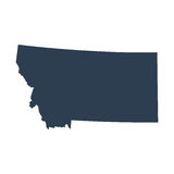 Map of the U.S. state  Montana Stock Photos