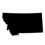 Map of the U.S. state Montana Royalty Free Stock Photography