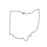 Map of the U.S. state of Ohio Stock Photos