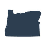 Map of the U.S. state  Oregon Stock Photography