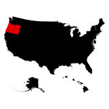 Map of the U.S. state  Oregon Royalty Free Stock Photography
