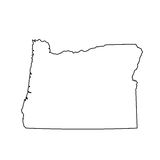 Map of the U.S. state of Oregon Stock Photos