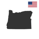 Map of the U.S. state of Oregon Royalty Free Stock Photography