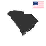 Map of the U.S. state of South Carolina Stock Photos