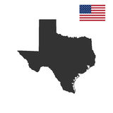 Map of the U.S. state of Texas Stock Image