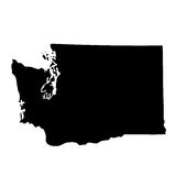 Map of the U.S. state Washington Stock Photography