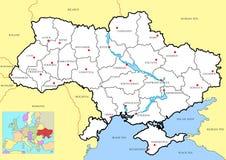 Map of ucraine. Kiev topography Stock Photo