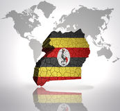 Map of uganda Royalty Free Stock Image