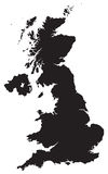Map of uk. Detailed map of the united kingdom Stock Photography