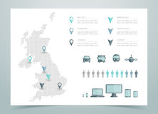 Map Of UK Dotted Vector Royalty Free Stock Photos