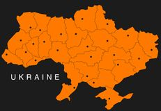 Map of ukraine Stock Photography