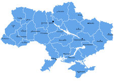 Map of Ukraine Royalty Free Stock Images