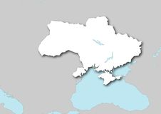 Map of Ukraine Stock Photos