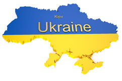 Map of Ukraine Royalty Free Stock Photos
