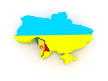 Map of Ukraine and Moldova. Stock Image