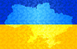 Map of Ukraine in National flag colors Royalty Free Stock Image