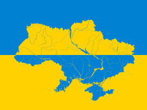 Map of Ukraine. Royalty Free Stock Photos