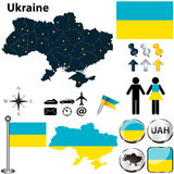 Map of Ukraine Royalty Free Stock Image