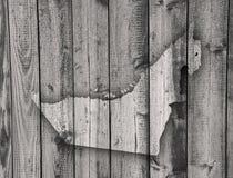 Map of United Arab Emirates on weathered wood Stock Photography