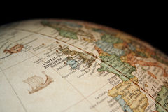 Map of United Kingdom. As seen from a globe Stock Photo