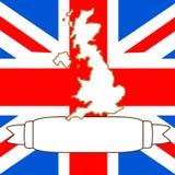 Map of United Kingdom. An illustration of United Kingdom and flag Stock Photo