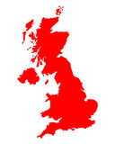 Map of United Kingdom Royalty Free Stock Photos