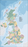 Map of United Kingdom. The United Kingdom of Great Britain and Northern Ireland is a sovereign country in western Europe Stock Image