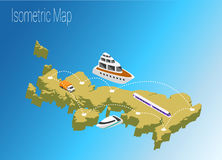 Map United Kingdom isometric concept. Stock Photography