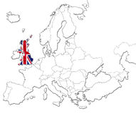 Map of United Kingdom Royalty Free Stock Photography