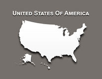 Map of United state of america Stock Photography
