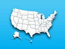 Map of United state of america Stock Images