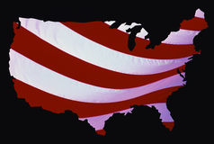 Map of the United States royalty free illustration