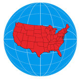 Map of the United States Royalty Free Stock Photography