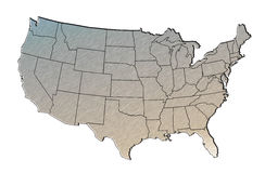 Map of the united states Stock Images