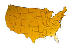 Map of the united states Stock Photos