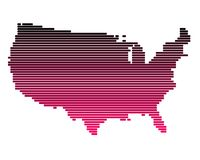 Map of the United States. In broad lines Royalty Free Illustration