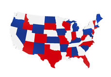 Map of the United States of America Stock Images