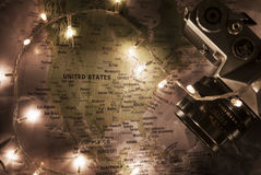 Map of United States Of America, travel concept Royalty Free Stock Image
