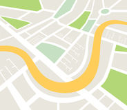 Map of urban infrastructure vector Royalty Free Stock Photos