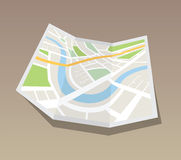 Map of urban infrastructure vector Stock Images