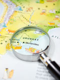 Map of Uruguay Royalty Free Stock Photography