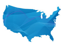 Map of the usa Royalty Free Stock Photos