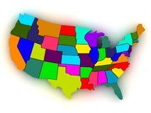 Map of USA Stock Photos